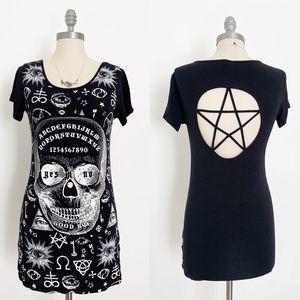 Banned Goth Skull Ouija Pentagram Graphic Large
